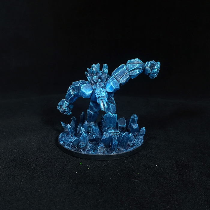 Crystal golem miniature