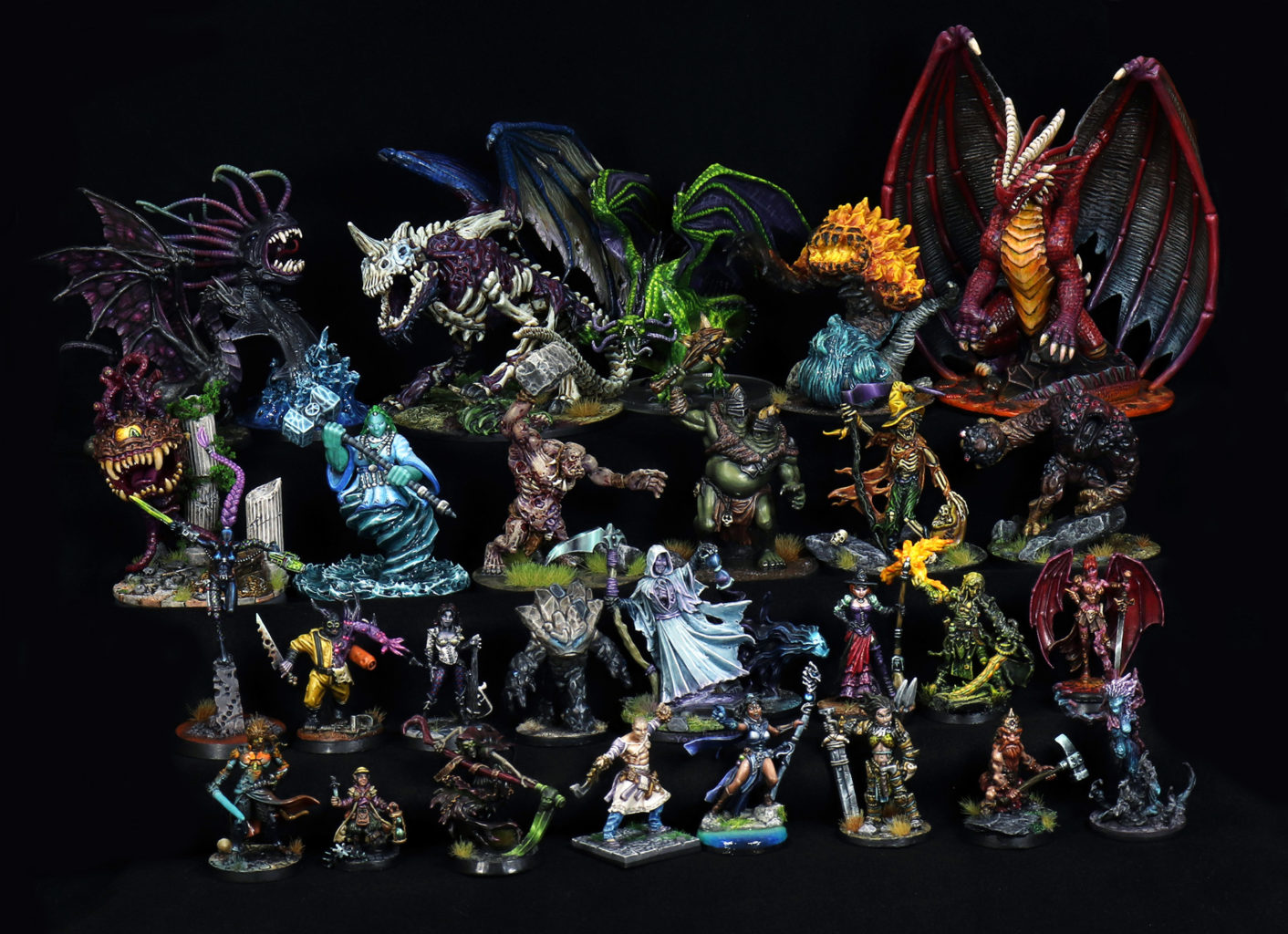 28mm Fantasy Painted Miniatures For Sale