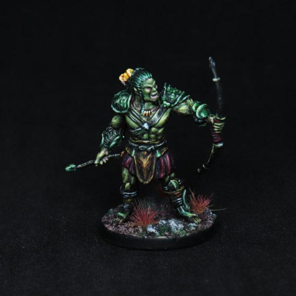 Half-Orc-Archer-Miniature